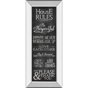 """House Rules"" By Susan Ball Mirror Framed Print Wall Art"