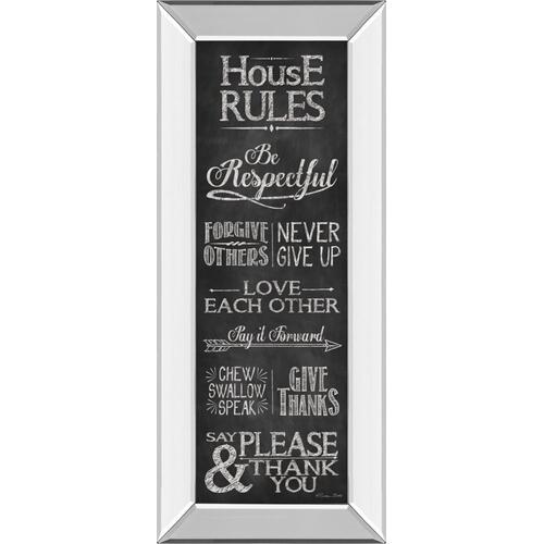 "Classy Art - ""House Rules"" By Susan Ball Mirror Framed Print Wall Art"