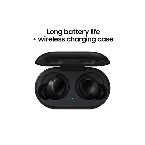 Galaxy Buds, Aura Glow Silver (Wireless Charging Case Included)