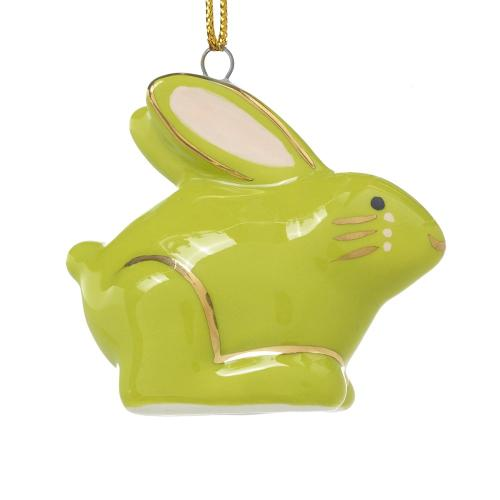"1.25""x 2.25"" Green E+E Critter Ornament (Hare Option)"