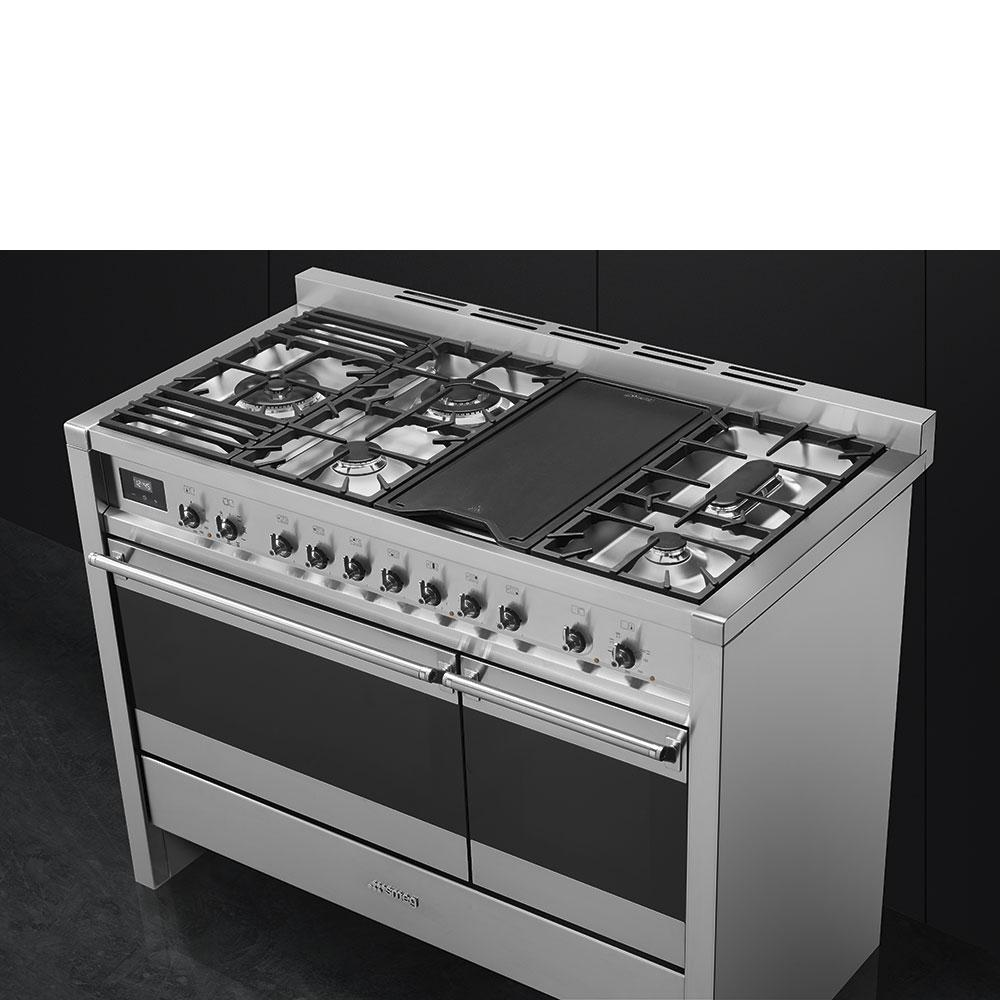 "Free-standing Dual Fuel Dual Cavity ""Opera"" Range Approx. 48"" Stainless Steel Gas Rangetop With Electric Grill Photo #3"