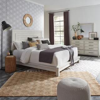 King California Platform Bed, Dresser & Mirror