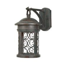 "7"" Wall Lantern - Dark Sky in Mediterranean Patina"