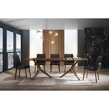 Modrest Utah - Modern Walnut Rectangular Dining Table