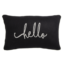 "Two Sided ""Hello"" Lumbar Pillow"