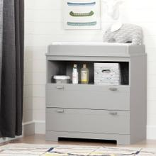 Changing Table with Storage - Soft Gray