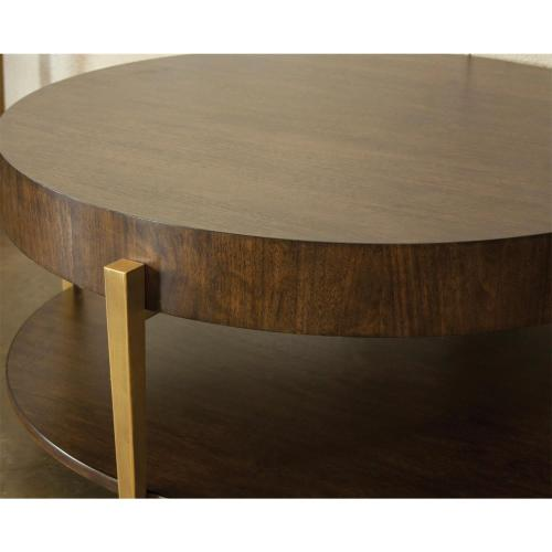 Dekker - Round Coffee Table - Roasted Walnut Finish