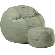 Convertible Faux Leather Chair Pillowpod Combo - King