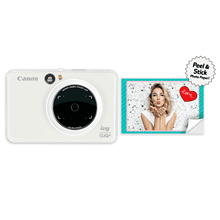 Canon IVY CLIQ+ Instant Camera & Portable Printer + App (Pearl White) Instant Camera Printer