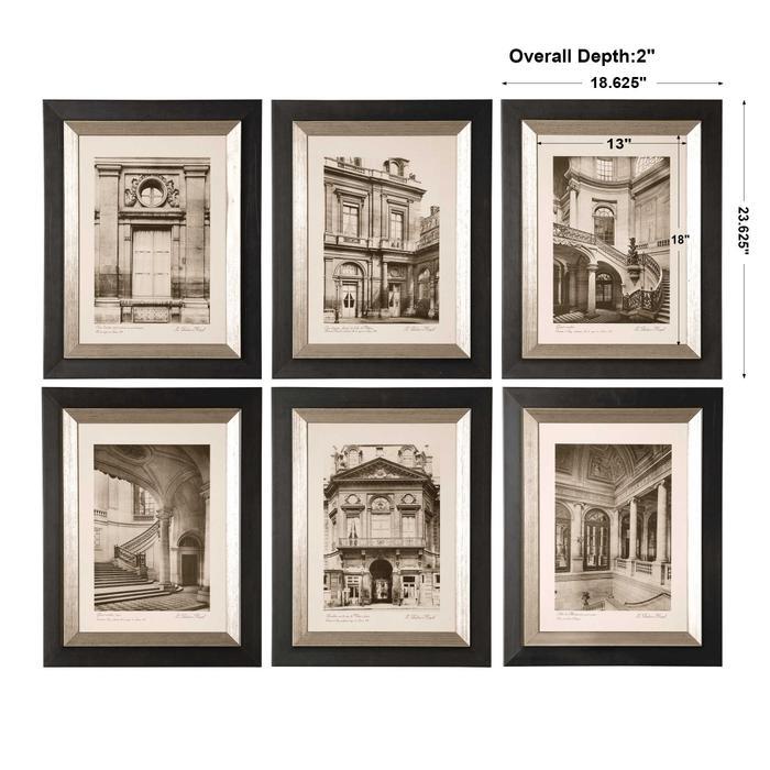 Uttermost - Paris Scene Framed Prints, S/6