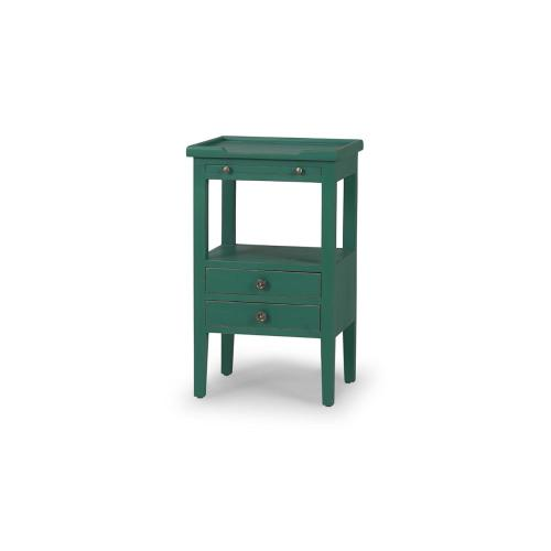 Eton 2 Drawer Side Table w/ Pull Out Shelf