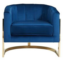 Tarra Accent Chair in Blue/Gold
