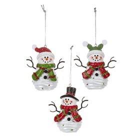 Soft Serve Santa Snowmen Ornaments (6 pc. ppk.)