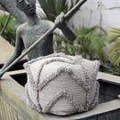 Olfen Pouf, Gray Product Image