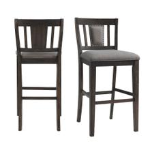 "Morrison 30"" Slat Back Bar Stool Set"