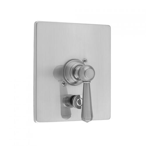 Satin Copper - Rectangle Plate With Hex Lever Trim For Pressure Balance Cycling Valve With Built-in Diverter (J-DIV-CSV)