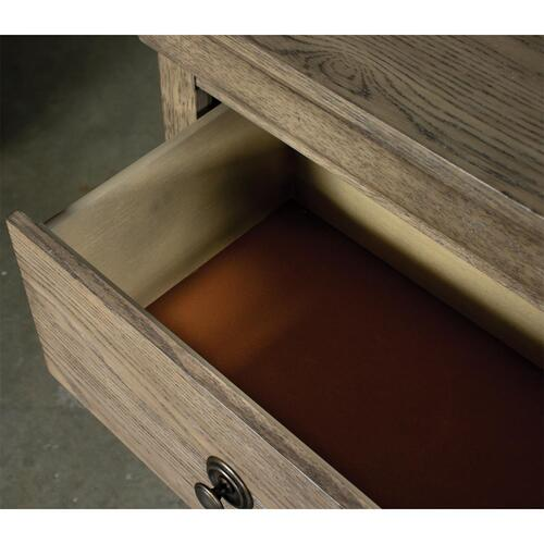 Louis Farmhouse - Three Drawer Nightstand - Antique Oak Finish