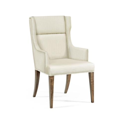 Hamilton Golden Amber Occasional Chair, Upholstered in Castaway