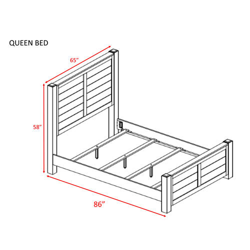 Dawson Creek Queen Panel Bed