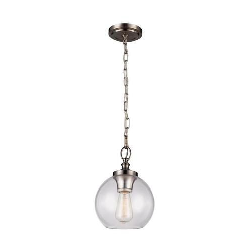 Tabby Clear Glass Mini Pendant Oil Rubbed Bronze