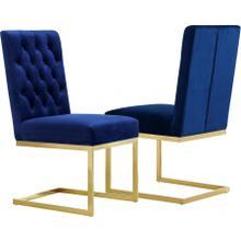 "Cameron Velvet Dining Chair - 19"" W x 25.5"" D x 38"" H"