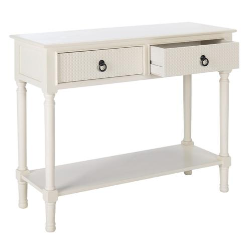 Safavieh - Haines 2 Drawer Console Table - White