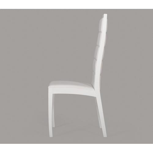 Donna - Contemporary White Leatherette Dining Chair (Set of 2)