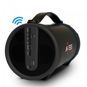"Portable Bluetooth® Speaker for Indoor/Outdoor 2.1 Hi-Fi Cylinder Loud Wireless Speaker Built-In 4"" Sub FM Radio SD , USB AUX Inputs - SPBT1033"