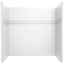 White 60'' x 32'' Bathtub Wall Set