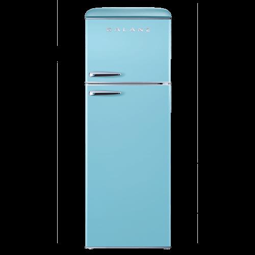 Galanz 12 Cu Ft Retro Top Mount Refrigerator in Bebop Blue