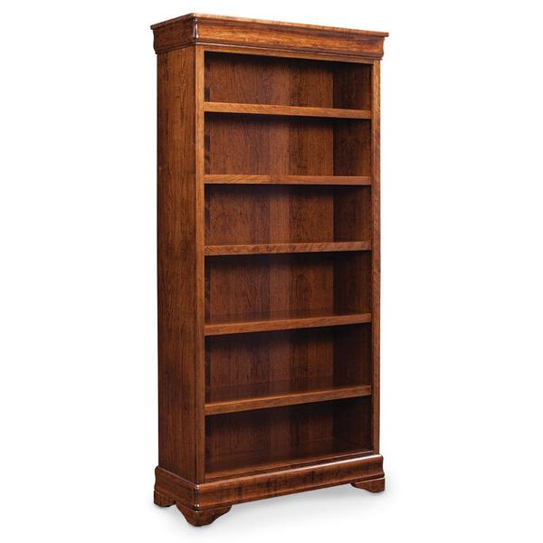 See Details - Louis Philippe Open Bookcase, 3 Adjustable Shelves