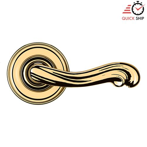 Baldwin - Non-Lacquered Brass 5108 Estate Lever with 5048 Rose