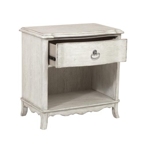 Accentrics Home - Beachcomber 1 Drawer Nightstand in Driftwood White