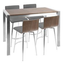 See Details - Mason Counter Set - Stainless Steel, Walnut Wood, Grey Pu