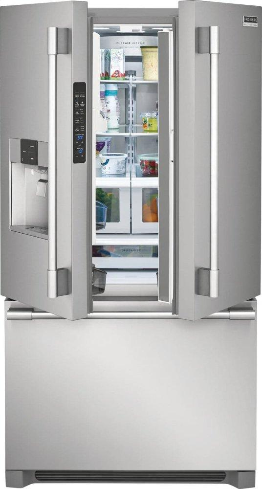 Fpbc2278uf Frigidaire Pro Professional 21 6 Cu Ft French Door Counter Depth Refrigerator Stainless Steel Metro Appliances More Kitchen Home Appliance Stores