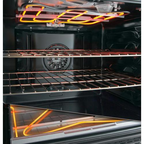 "GE Profile Series 30"" Free-Standing Electric Convection Range with Warming Drawer"