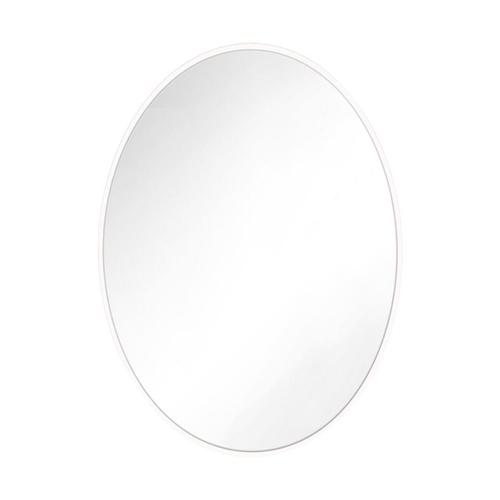 Kit Oval Mirror Matte White