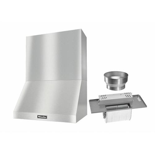 """DAR 1220 Set 9 Wall-Mounted Range Hood with Extraction Mode with integrated XL motor including 24"""" chimney cover"""