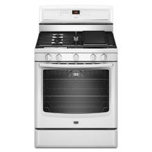 White Maytag® 5.8 cu. ft. Capacity Gas Range with EvenAir™ True Convection and Power Preheat