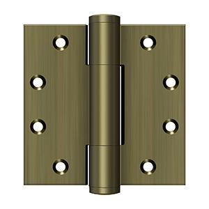 "Deltana - 4-1/2"" x 4-1/2"" 5.1mm Hinge - Antique Brass"