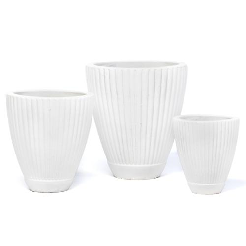 Trattoria Planter, White - Set of 3