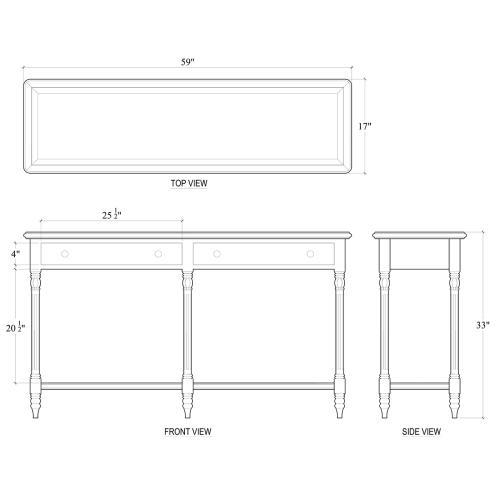 Bramble - Edwardian 2 Drawer Console Table