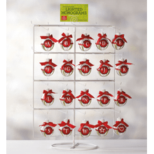 See Details - Lighted Monogram Ornament Displayer with Header Card.