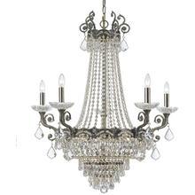 Majestic 13 Light Clear Crystal Brass Chandelier