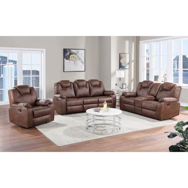 See Details - Dorado Brown Reclining Sofa, Loveseat & Chair, M9731