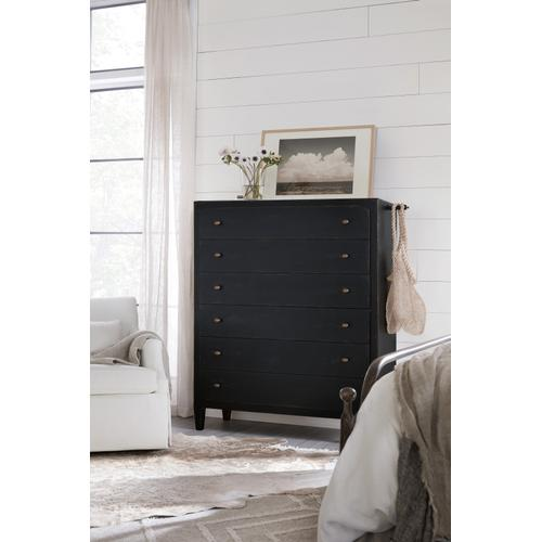 Ciao Bella Six-Drawer Chest- Black