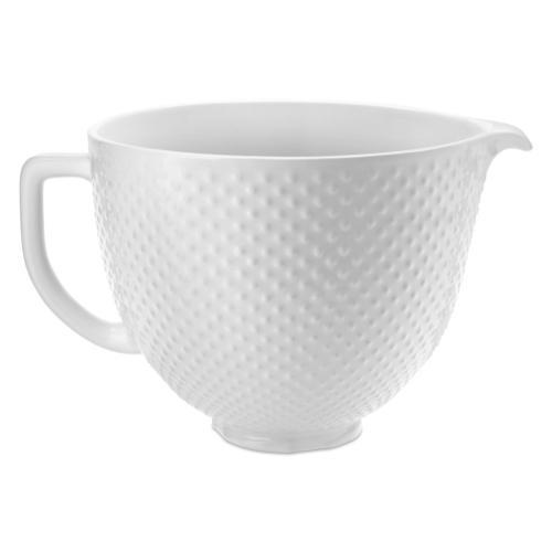 5 Quart Hobnail Ceramic Bowl