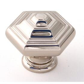 Geometric Knob A1530 - Polished Nickel