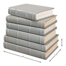Books, Set Of 6, Antique Grey
