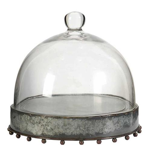 Plate with Glass Dome,Small